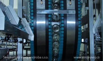 Obracarka pojemników  z wydmuchem