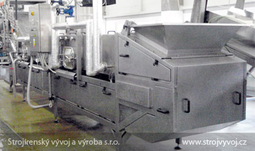 Pocket conveyor for blanching