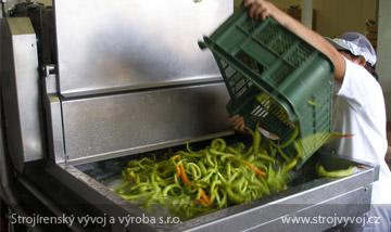 Воздушная моечная машина для овощей