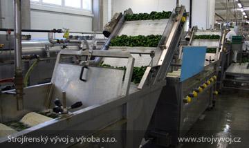 Kartáčová pračka pro mytí zeleniny