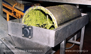 Pea sorting machine