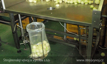 Filling table with a weighing function