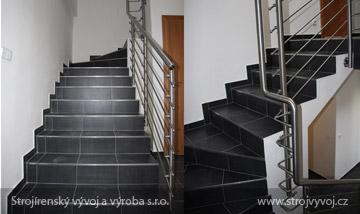 Nerezové zábradlí a schody