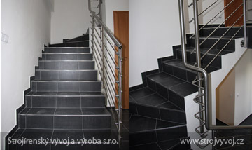 Stainless steel handrails and stairs