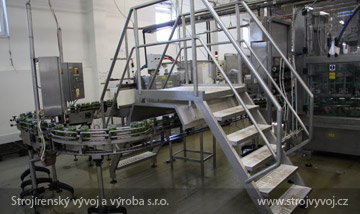 Stainless steel stairs for establishment